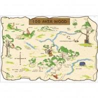 Παιδικό Αυτοκόλλητο 100 Aker Wood Map - Decotek 0719RMK1502SLM