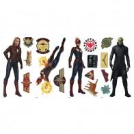 Παιδικό Αυτοκόλλητο Captain Marvel - Decotek 0719RMK3946SCS