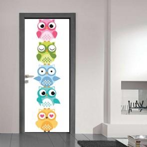 Παιδικό Αυτοκόλλητο Πόρτας Κουκουβάγιες - Decotek 11079