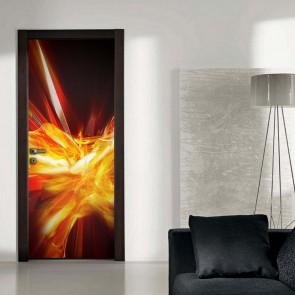 Αυτοκόλλητο Πόρτας Flames Decotek