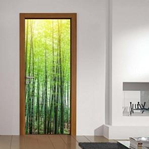 Αυτοκόλλητο Πόρτας Bamboo Forest Decotek