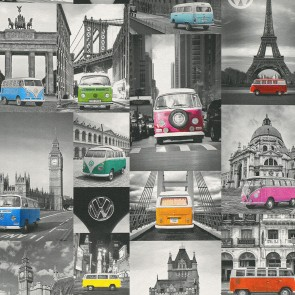 Ταπετσαρία Τοίχου Vintage Αυτοκίνητα  - P+S International, Collage - Decotek 42509-10