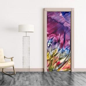 Αυτοκόλλητο Πόρτας Abstract Flower Painting - Decotek 20176