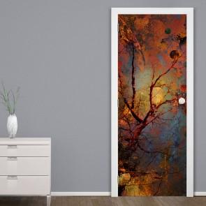 Αυτοκόλλητο Πόρτας Abstract Tree - Decotek 20181