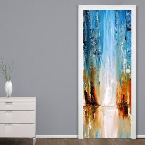 Αυτοκόλλητο Πόρτας Abstract Waterfall - Decotek 20182