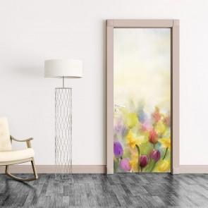 Αυτοκόλλητο Πόρτας Bouquet Painting - Decotek 20201