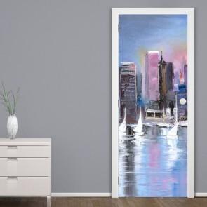 Αυτοκόλλητο Πόρτας City Painting - Decotek 20203