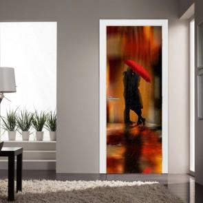 Αυτοκόλλητο Πόρτας Downtown Fantasy Love - Decotek 20208