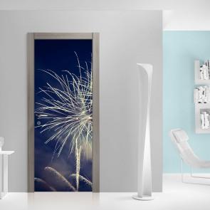 Αυτοκόλλητο Πόρτας Fireworks at Night - Decotek 20215
