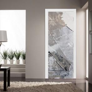 Αυτοκόλλητο Πόρτας Grey Texture - Decotek 20222