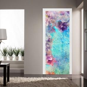 Αυτοκόλλητο Πόρτας Grounge Art Flowers - Decotek 20224