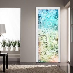 Αυτοκόλλητο Πόρτας Grounge Letters - Decotek 20225