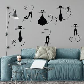 Αυτοκόλλητο Τοίχου Cats - Decotek 09522