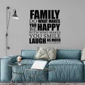 Αυτοκόλλητο Τοίχου Family - Decotek 09549