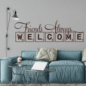 Αυτοκόλλητο Τοίχου Friends Welcome - Decotek 09534