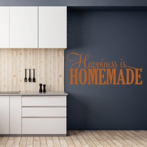 Αυτοκόλλητο Τοίχου Happiness Is Homemade - Decotek 09548