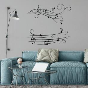 Αυτοκόλλητο Τοίχου Music Notes - Decotek 09546