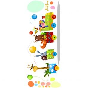 Παιδικό Αυτοκόλλητο Χαρούμενο Τρενάκι με Ζωάκια - Decotek 18953