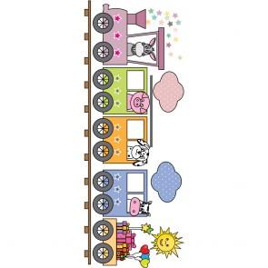 Παιδικό Αυτοκόλλητο Ζωάκια στο Τρένο- Decotek 18963