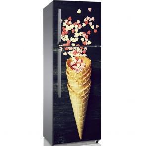 Αυτοκόλλητο Ψυγείου Ice Cream Horn With Sweethearts - Decotek 19146