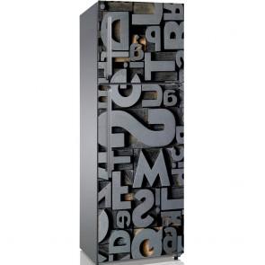 Αυτοκόλλητο Ψυγείου 3D Typography - Decotek 19090