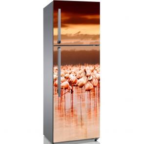 Αυτοκόλλητο Ψυγείου African Flamingos on Sunset - Decotek 19093
