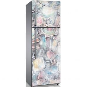 Αυτοκόλλητο Ψυγείου Light Grunge Colours - Decotek 19208