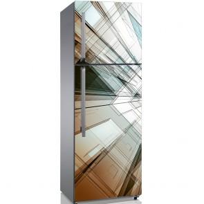Αυτοκόλλητο Ψυγείου Abstract Architecture - Decotek 19123