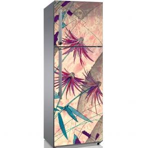 Αυτοκόλλητο Ψυγείου Abstract Pink Flower - Decotek 19128