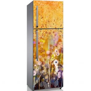 Αυτοκόλλητο Ψυγείου Gold Abstract Flower - Decotek 19139