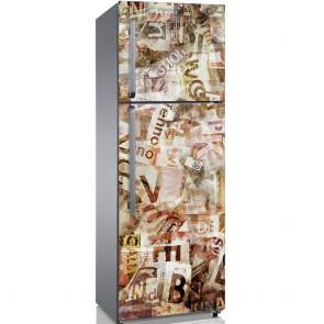 Αυτοκόλλητο Ψυγείου Grunge Typography - Decotek 19141