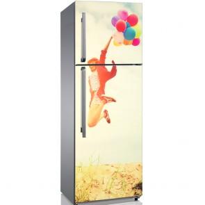 Αυτοκόλλητο Ψυγείου Happy Girl - Decotek 19143