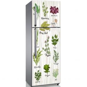 Αυτοκόλλητο Ψυγείου Herbs in Light Wood - Decotek 19145