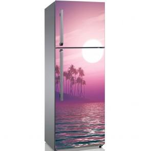 Αυτοκόλλητο Ψυγείου Fantasy Palm Sunset - Decotek 19190