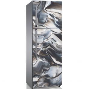 Αυτοκόλλητο Ψυγείου Grey and Beige Liquids - Decotek 19197