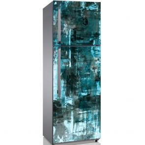 Αυτοκόλλητο Ψυγείου Turquoise Abstract Painting - Decotek 19215
