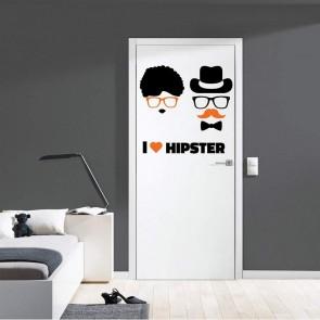 Αυτοκόλλητο Τοίχου I Love Hipster Decotek