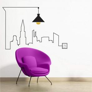 Αυτοκόλλητο Τοίχου Light City Decotek