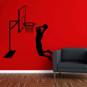 Αυτοκόλλητο Τοίχου Μπάσκετ Decotek