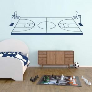 Αυτοκόλλητο Τοίχου Basketball Court - Decotek 09447