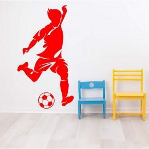 Αυτοκόλλητο Τοίχου Ποδοσφαιριστής Decotek