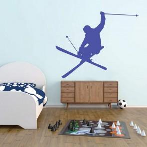 Αυτοκόλλητο Τοίχου Skier - Decotek 09455