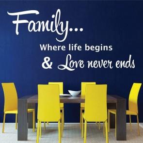 Αυτοκόλλητο Τοίχου Family Decotek