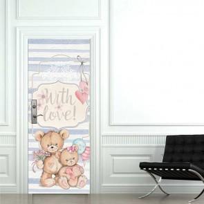 Παιδικό Αυτοκόλλητο Πόρτας Αγαπημένα Αρκουδάκια - Decotek 18691