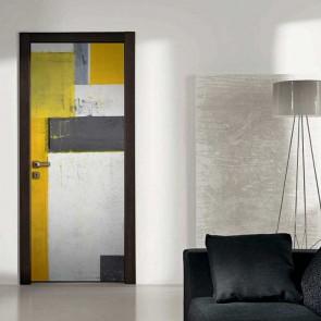 Αυτοκόλλητο Πόρτας Yellow Abstract - Decotek 18692