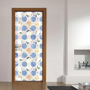 Αυτοκόλλητο Πόρτας Flowers and Dots - Decotek 19037