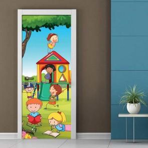 Παιδικό Αυτοκόλλητο Πόρτας Χαρούμενα Παιδάκια - Decotek 19047