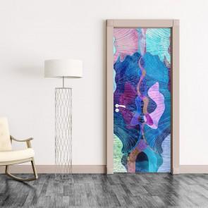 Αυτοκόλλητο Πόρτας Abstract Shapes - Decotek 20106