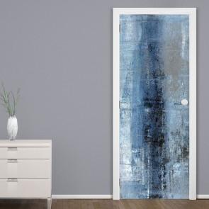 Αυτοκόλλητο Πόρτας Blue and Grey Abstract - Decotek 20109