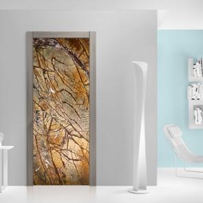 Αυτοκόλλητο Πόρτας Gold and Marble - Decotek 20125